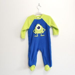 Disney Baby Mike Wazowski Fleece Sleeper, 6-9 Mon